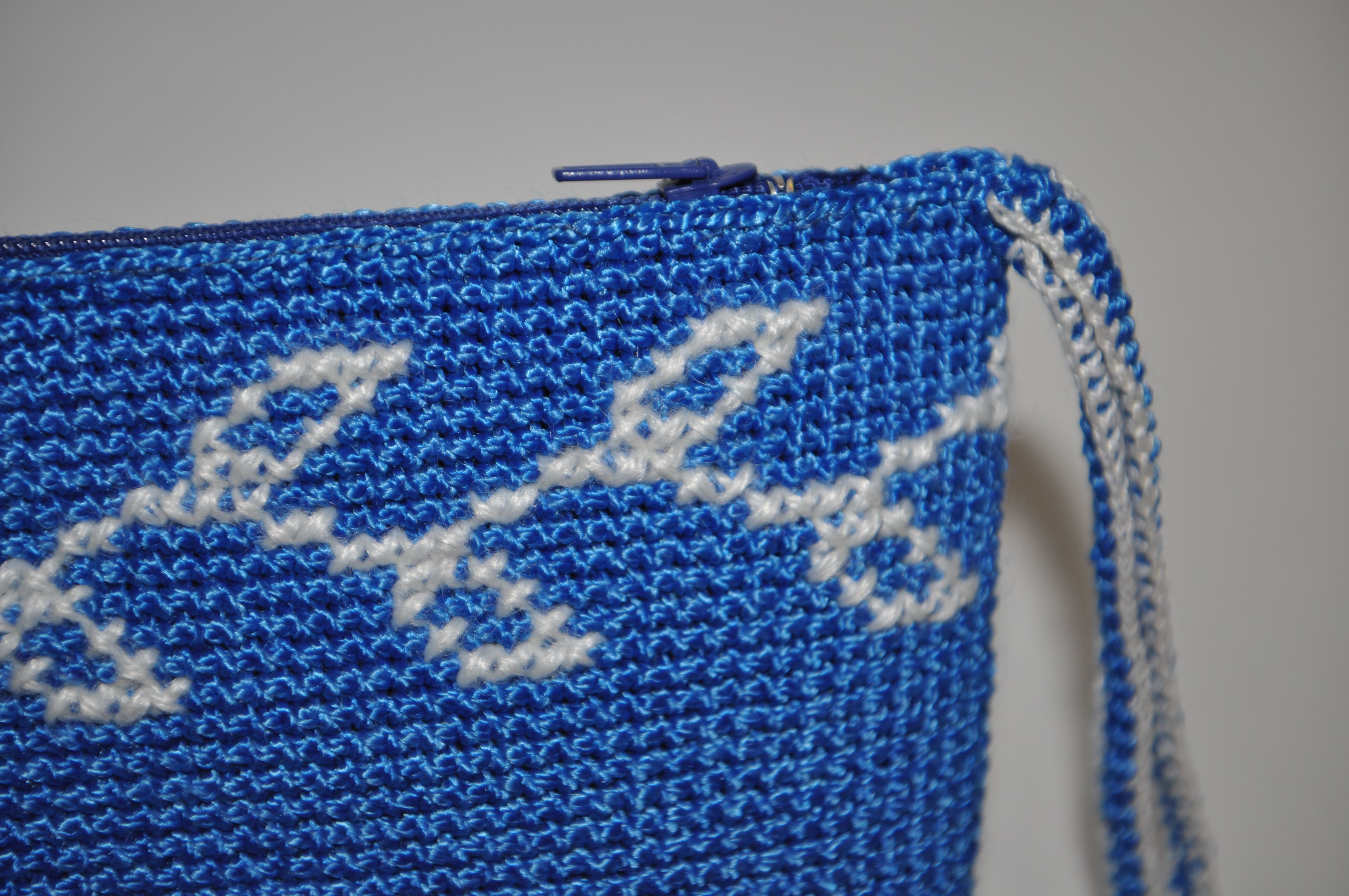 handmade gift bag souvenir embroidery cosmetics christmas blue holiday clutch crocheted newtear cosmeticsbag crossstitch zip knit white
