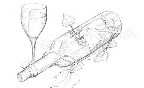 bottle art draw pencil gradually