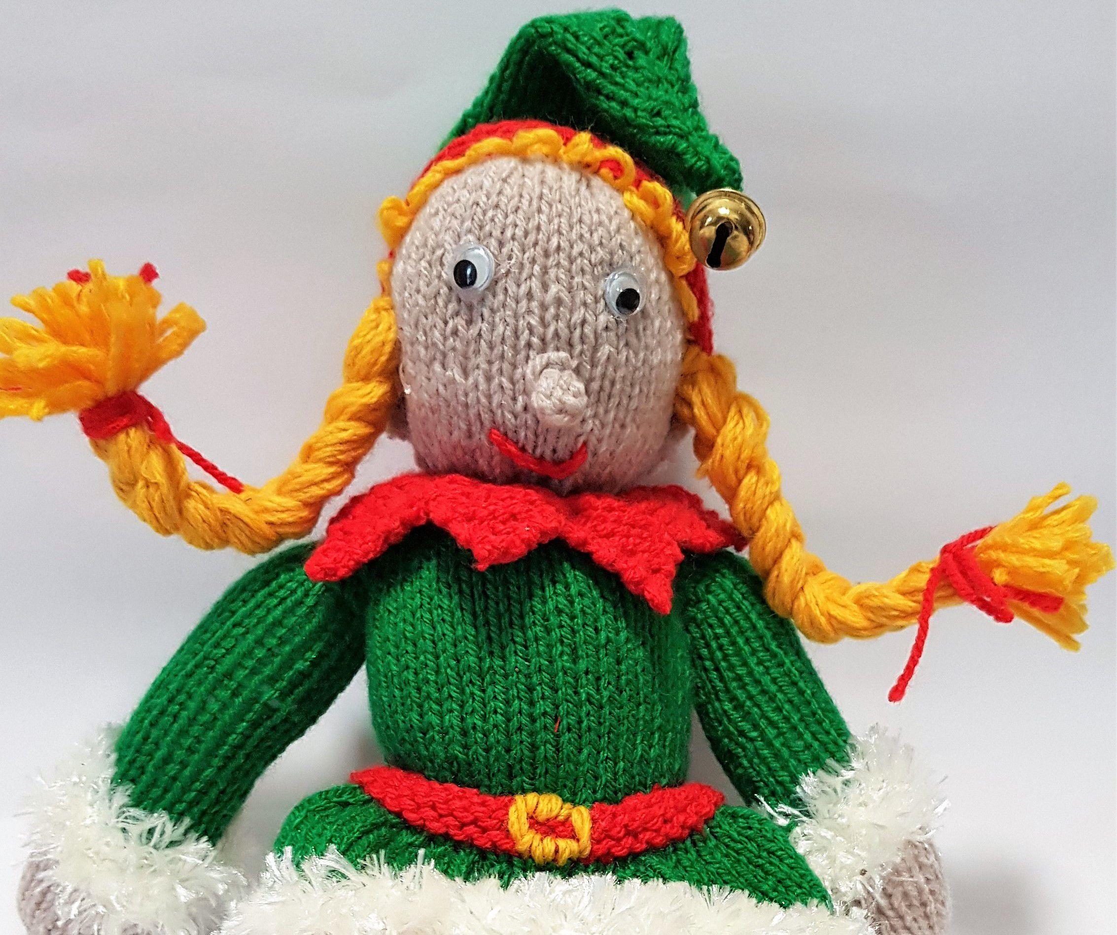 plushtoy stuffedtoy knittedelf santaself christmaself softtoy knittedtoy christmastoy elftoy