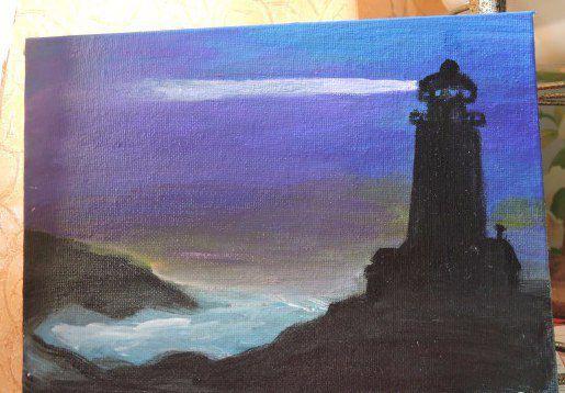 art acrylic paint lighthouse canvas