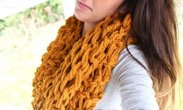 scarf goods textile knit arm