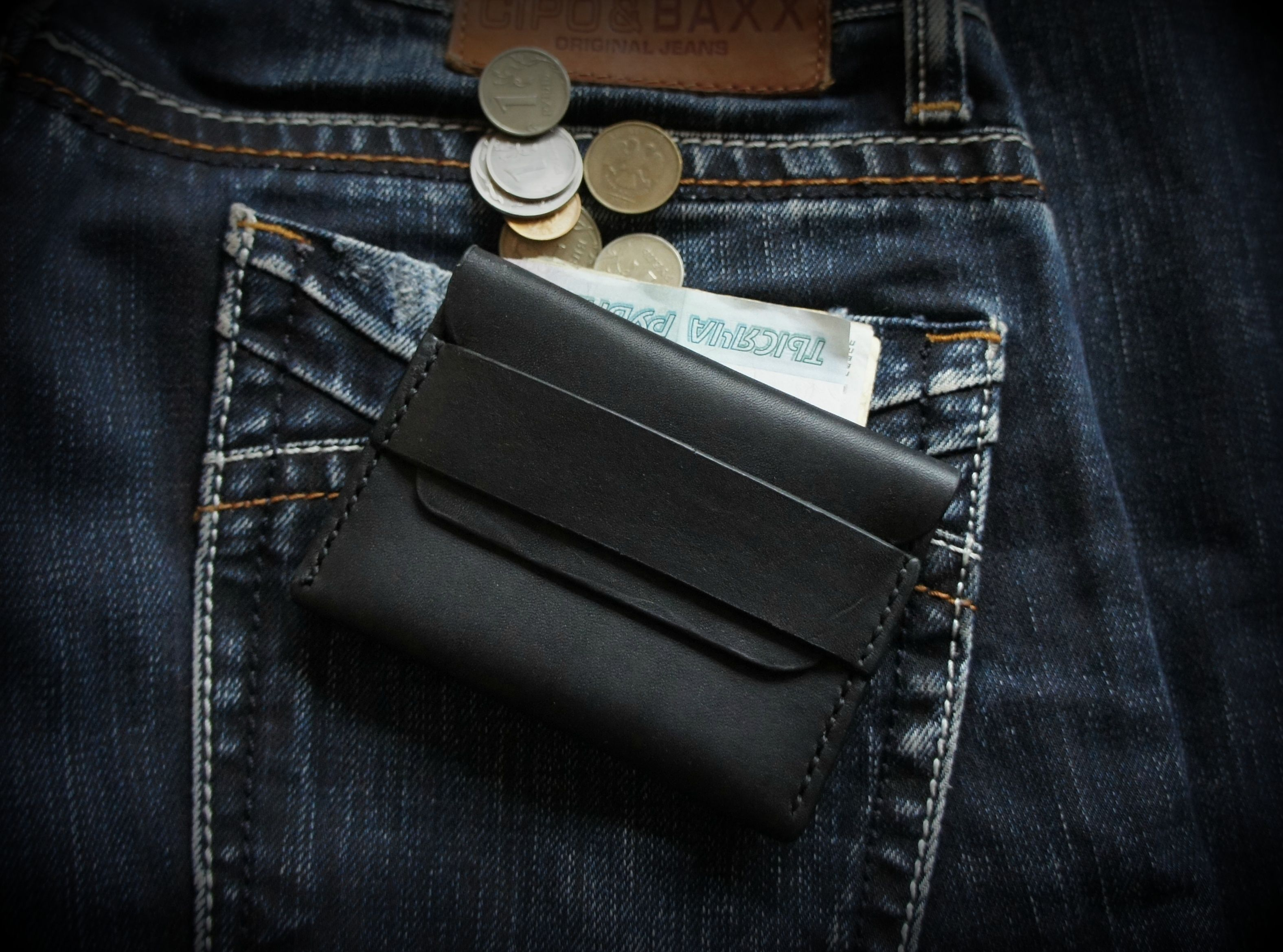 leather accessories wallet cardholder black