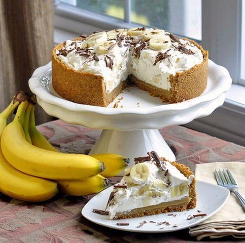 tasty cooking banana condensedmilk dessertrecipe cream chocolate dessert banoffeepie banoffee delicious homemade diy recipe