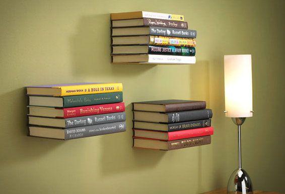 invisible levitate make unusual bookshelf