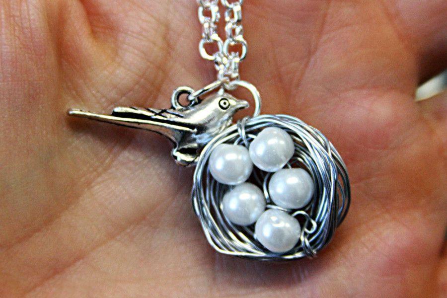 gift diy bird jewelry necklace