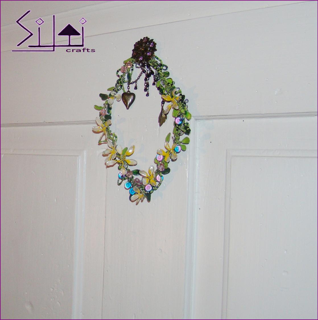 bohemian decor rhombus vintage boho wall romantic wallart spring metal floral magic door wedding flower