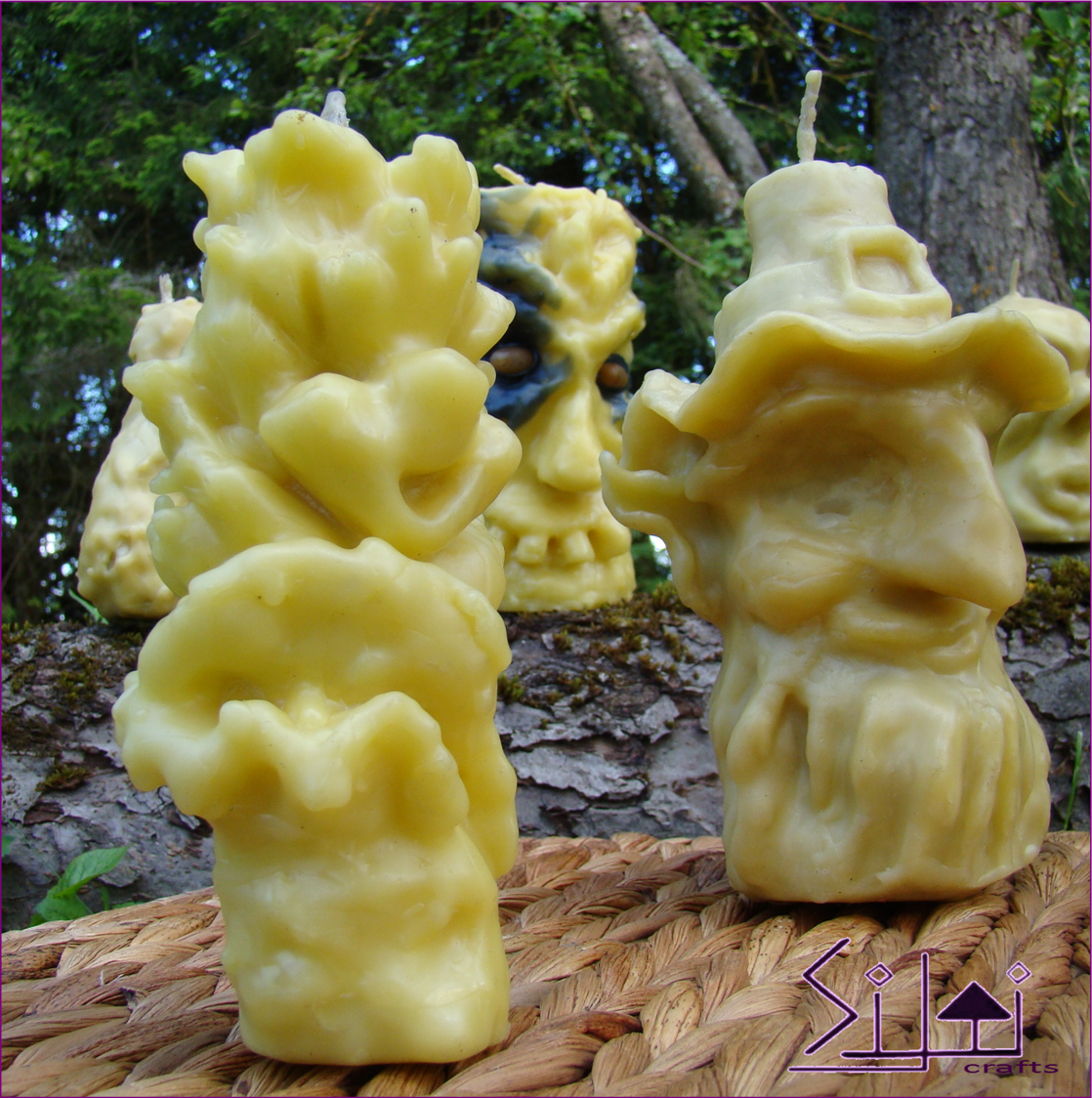 handsculpted happiness natural smiling beeswax eco joy smile candle happy flower sculpted