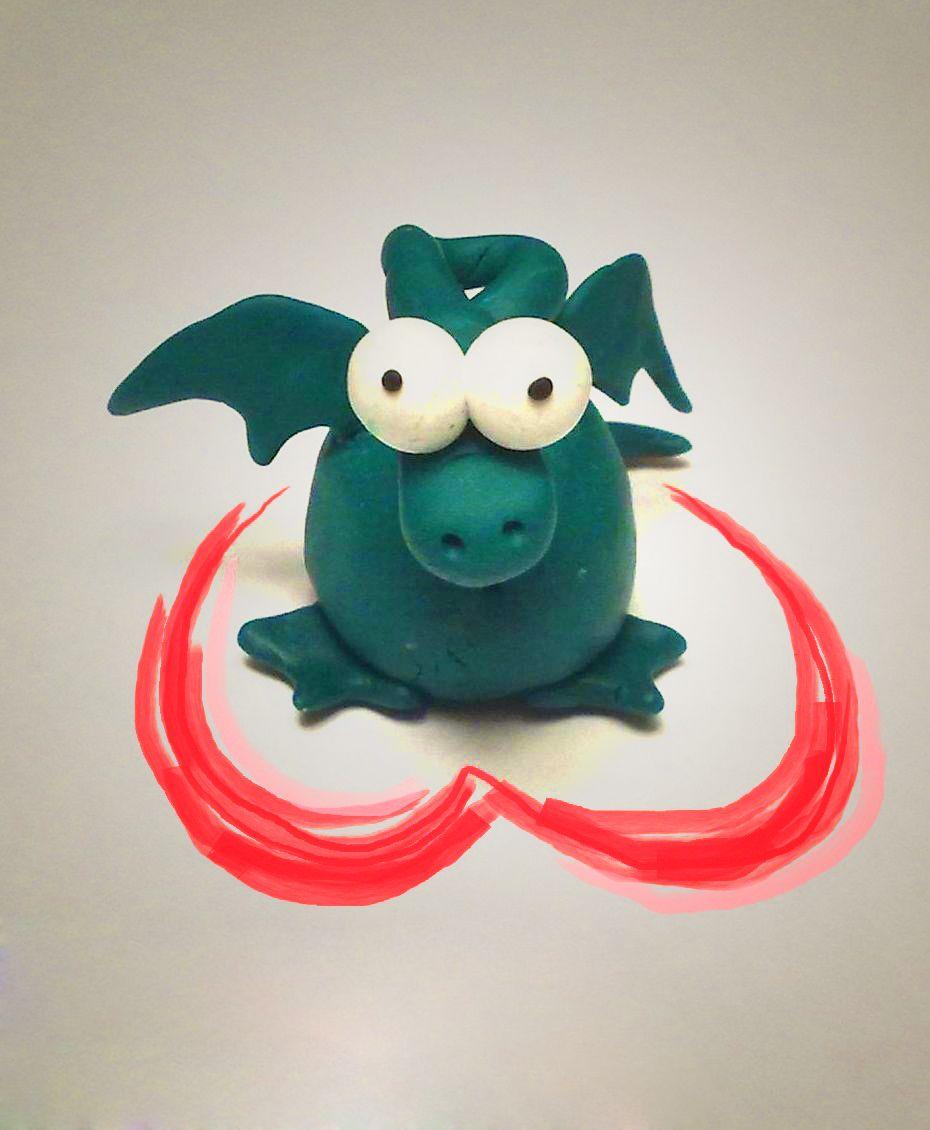 dragon toy interior christmas clay